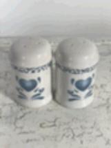 Corelle Pattern Blue Hearts Salt & Pepper Shakers - $14.99