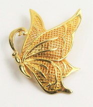 VINTAGE ESTATE Jewelry LARGE BUTTERFLY FIGURAL BROOCH - $10.00