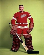 NHL 1960's HOFer Terry Sawchuk Detroit Red Wings Color 8 X 10 Photo Free... - $8.09