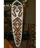 Papua Era River Ritual Spirit Bravery Polychrome Gope Board Trophy Shiel... - $189.99