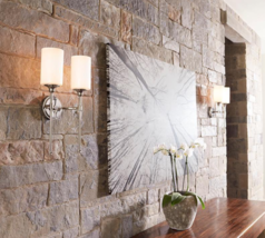 """Horchow Modern Farmhouse Glam Double Sconce Wall Mount Light 19"""" Polished Nickel - $127.71"""