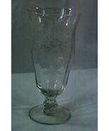 Tiffin 1959 Persian Pheasant Pearl Collar Clear STem #17358 Ice Tea Glass - $18.89