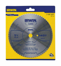 """Irwin 11840 Fine Tooth Circular Saw Blade for Plywood, 7-1/4"""", 140T, 5/8... - $11.79"""