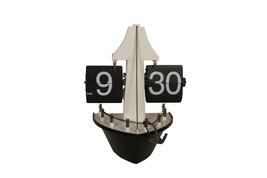 Ansavv Metal&fibre Black & White Flip Desk Clock - £90.86 GBP