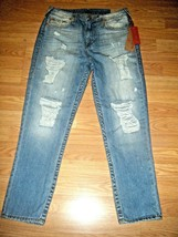 NWT TRUE RELIGION BOYFRIEND FACTORY DISTRESSED DENIM JEANS SIZE 28 - $96.74