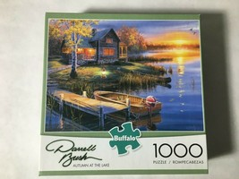 Puzzle Autumn At The Lake (2014, Buffalo) 1000 Pieces 26.75 x 19.75 Comp... - $9.75