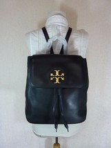 NWT Tory Burch Black Leather Miller Metal-Logo Backpack $458 - $453.42
