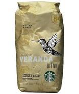 Starbucks Veranda Blend Whole Bean Coffee 1lb Bag Sealed New Fast Ship - $17.95