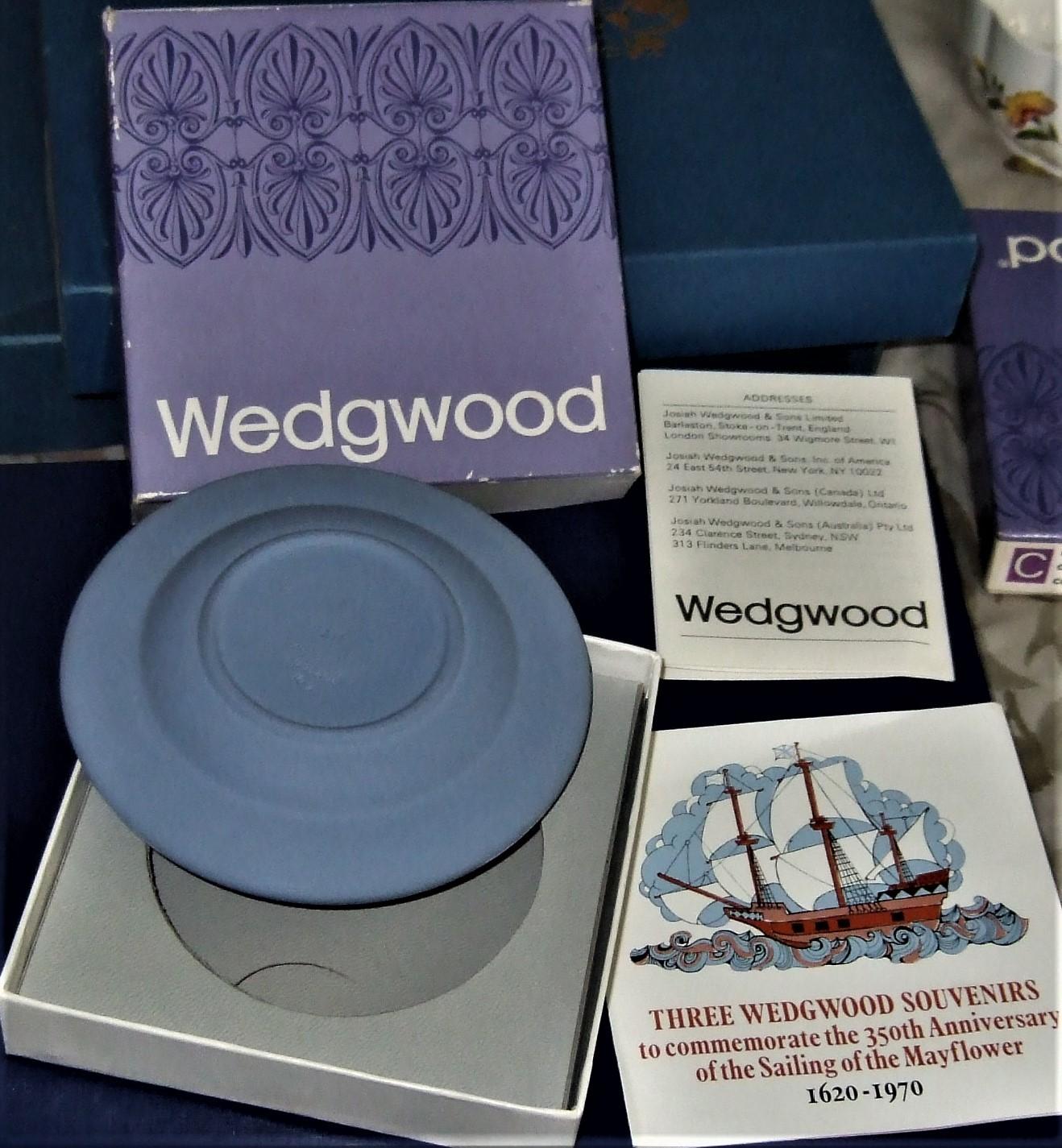 Wedgwood - Mayflower Sweet Dish in Blue & White Jasper image 5
