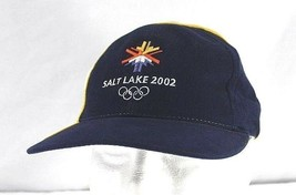 Olympic 2002 Salt Lake City Games Blue/White Baseball Cap Adjustable Strap - £20.06 GBP