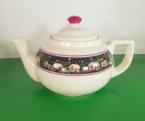 Oneida HOLIDAY HARBOR Teapot with Lid Christmas 4-Cup - $29.65