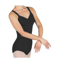 Bal Togs 6010 Women's Small (4-6) Black Pinch Front Camisole Leotard - $19.99