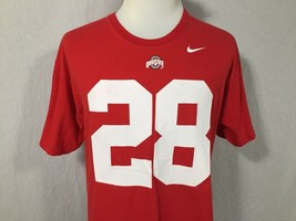 Ohio State Buckeyes Adult Large Red Nike Team Jersey T Shirt Tee Vintage... - $24.74