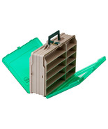 Plano Double-Sided 19-Compartment Satchel - Sandstone & Green  111906 - $42.00