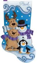 Design Works Winter Friends Snowman Penguin Christmas Felt Stocking Kit 5260 - $29.95