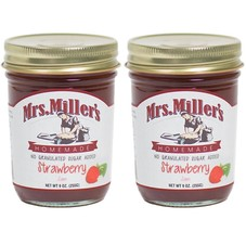 Mrs. Miller's Amish Homemade Strawberry No Granulated Sugar Added Jam 9 ... - $13.67