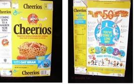 General Mills Cheerios Cereal Box Flat Looney Tunes Bugs Bunny 50th Birt... - $16.99