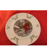 """8 1/4"""", Royal Doulton, 1980 Christmas Plate. Fourth of a Series. - $14.99"""