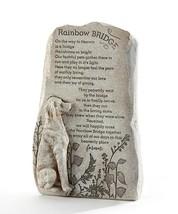 "12.4"" Memorial Up Right Dog Sentiment Rainbow Bridge Stone Statuary Poly Resin"