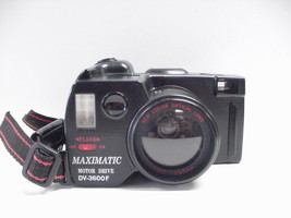 Maximatic CV-3600F Motor Drive 35mm Camera with Built-in Flash - $11.57