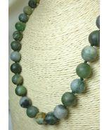 Polar Jade Round Matte 10mm Green Gemstone Necklace 19 inch - $49.00