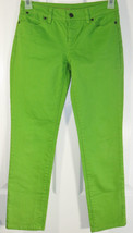 Talbots Signature Slim Ankle Jeans Size 2P 26 Petites Green Apple Stretch - $24.20