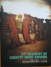 51st  Academy of Country Music Awards MGM Las Vegas April 3, 2016 - $24.95