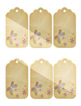 6 Flower Tags26-Download-ClipArt-ArtClip-Digital  - $3.99