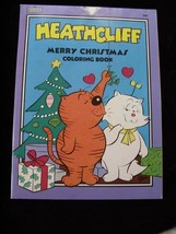 Heathcliff Merry Christmas Coloring Book Marvel Books 1985 Cats New - $16.99