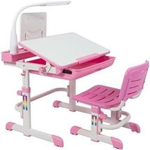 Height Adjustable Girls School Color Write Childrens Desk Chair Set Kids Work - $284.07
