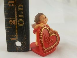 Vintage Hallmark Merry Miniature Cupid Valentine's Day Holding I Love You Heart image 7