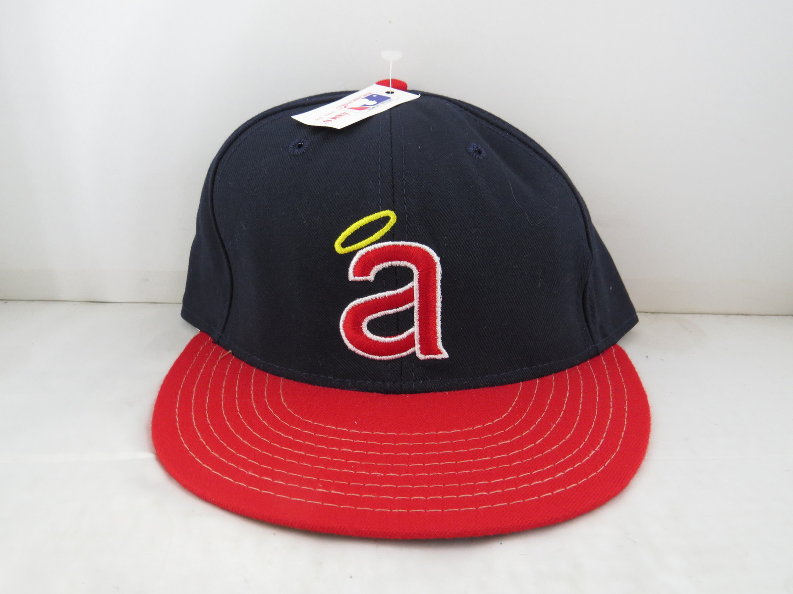 California Angels Hat (VTG) - 1980s Pro Model by Annco - Fitted 7 3/8 (NWT)  - $85.00