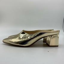 NINE WEST Gold Metallic Slip-on Pumps Mules Shoes, Size 7.5 M - $27.72