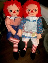"""36"""" Raggedy Anne and Andy Playpal Sized Piroette Dolls 1983 Applause Min... - $98.01"""