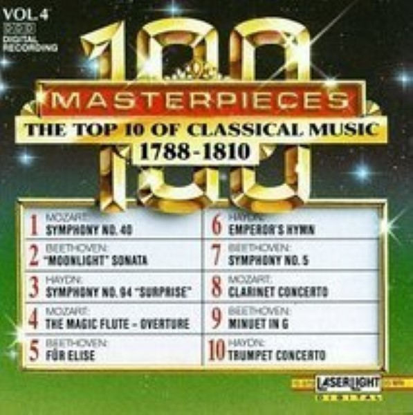 100 Masterpieces, Vol.4: The Top 10 Of Classical Music 1788-1810 Cd