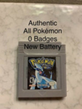 Pokemon Silver Authentic All 251 New Battery Game Boy Color 0 Badges - $50.00