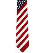 American Flag Mens Neck Tie Patriotic Necktie 4th July Charity Item 100%... - $15.79