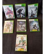 LOT OF 7 Xbox 360 Games (Deadpool, Halo, NFL, Star Wars) Used in Great C... - $21.55