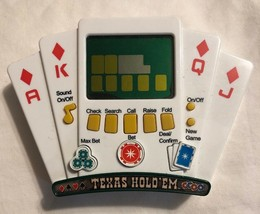 Mga Texas Hold'em Poker Showdown Electronic Handheld Game Tested Nos Las Vegas - $9.89