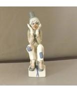 Enesco Clown Figurine Vintage Handpainted Lladro-Style Thinking Clown St... - $19.99