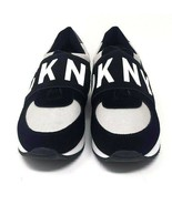 DKNY Womens Low Top Slip On Fashion Sneakers, Black/Silver, Size 7.5 - $89.99