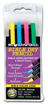 Bible Highlighter Dry Pencil Kit, Set of 4 Colors, No Bleed - $30.00