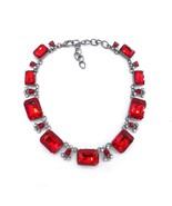 PPG&PGG 4 colours New Women Luxury Bijoux Red Glass Rhinestone Choker Bi... - $22.43
