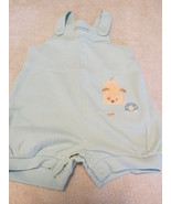 Carter's Child Of Mine Body Suit And Overall Shorts Blue With Puppies M ... - $12.99