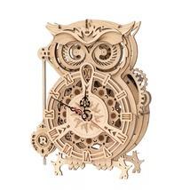 New 161pcs Creative DIY 3D Owl Clock Wooden Model Building Block  - $119.50