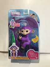 Authentic FINGERLINGS Interactive PURPLE Finger Monkey MIA with Bonus Stand - $17.76
