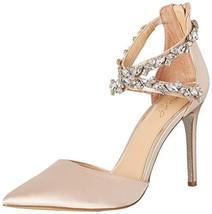 Jewel Badgley Mischka Women's JAZMINE Shoe, champagne 1, M065 M US - $93.20