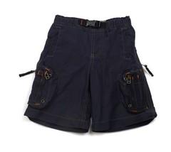 GAP Kids Navy Blue Boys Shorts lot of Pockets Zippers adjust waist  5 - $8.90