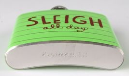 Sleigh All Day Metal Pocket Hip Flask 5 oz Christmas Alcohol Whisky Vodka NEW image 4