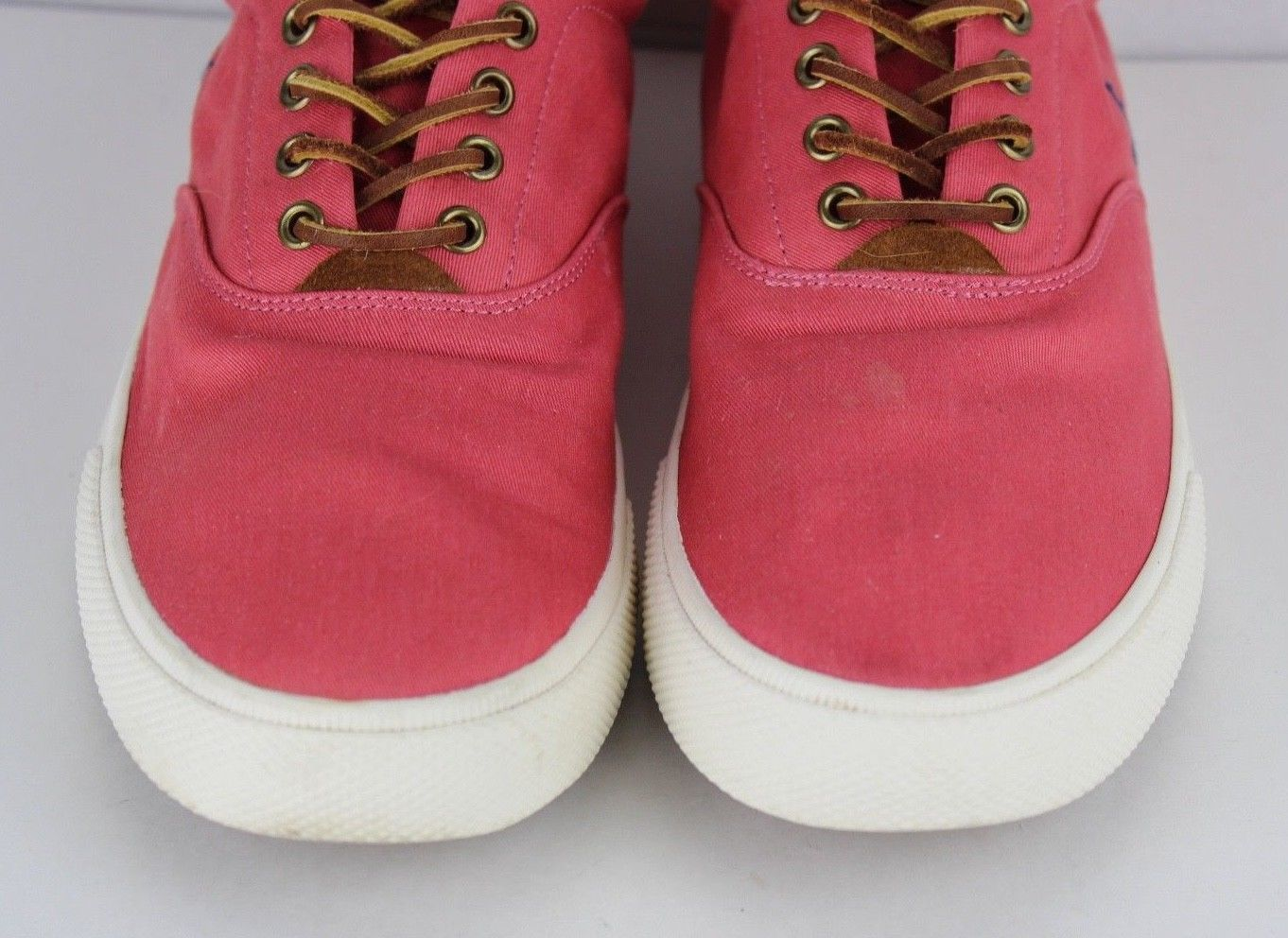 Polo Ralph Lauren Vaughn chambray herringbone suede sneakers shoes size 13 D
